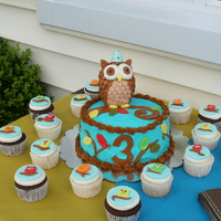 Owl Theme Birthday Cake   Owl theme birthday cake