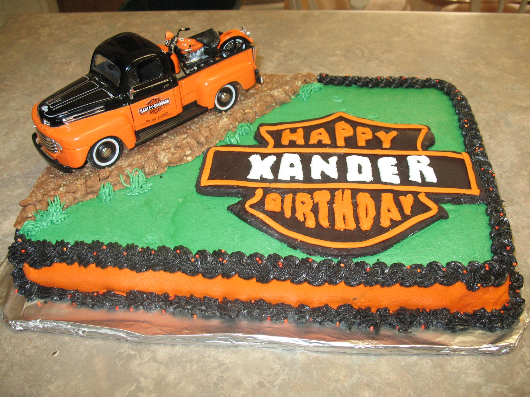 Harley Cake Cake for my grandsons birthday
