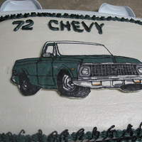 72 Chevy buttercream transfer
