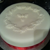 Snowy Holly Christmas Cake Snowy Holly Christmas Cake.