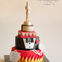 Oscar Awards Theme Teachers Appreciation Cake This was a request from a friend who wanted something Oscar themes for her teacher appreciation day. I was given free reign with design so...