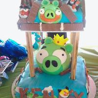 Angry Brids Birthday Cake Angry Brids Birthday Cake