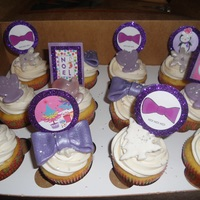 Christmas Cupcakes   Purple and White - Bow Tie Themed Holiday Cupcakes