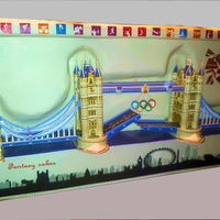 Tower Bridge Olympic London 2012 Cake Wwwfantasycakeseu Wwwfacebookcomfantasycakeseu   Tower Bridge Olympic London 2012 cake! www.fantasycakes.eu, www.facebook.com/fantasycakes.eu