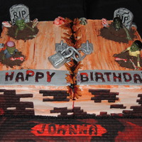 Birthday Cakes Zombie themed Birthday Cake