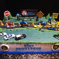 Dui Check Point Scene Cake IDEAS- Impaired Driving Education and Victim Services Award Dinner