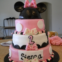 3Rd Cake I Made This was created for a lovely 2 yr olld who just adores Minnie Mouse