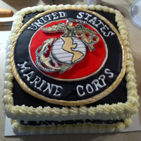 "Happy Veteran's Day A ""Marine Corps Birthday"" cake."