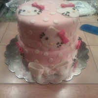 Hello Kitty Cake A Hello Kitty cake I did for my daughters 5th birthday