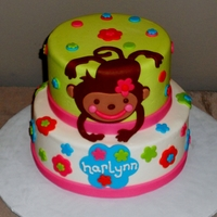 Monkey Cake To Welcome Harlynn Client saw this cake from Cakes with L.O.V.E. and wanted me to replicate it. I finished it in butter cream instead of fondant and added...