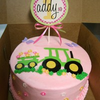 John Deere Girl Cake Done To Match Partyware John Deere Girl cake done to match partyware.