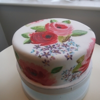 My Hand Painted Cake <3 A cake I hand painted today