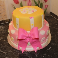 Pink,yellow Birthday Cake   For my little princess's 3rd birthday
