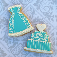 Tiffany Blue Bridal Cookies