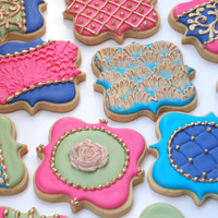 Fancy Square Jewel Tone Cookies Vibrant Jewel tone cookies