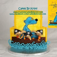 The 13 1/2 Lives Of Captain Bluebear (By Walter Moers) This cake is based upon my favorite book: The 13 1/2 Lives of Captain Bluebear by Walter Moers.This is a Devil's Food cake and Yellow...