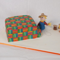 "Scarecrow Sewing Quilt Autumn quilt Inspiration Challenge"" Cake. I thought it'd be cute to take a ""fall"" character and make it sew the quilt..."