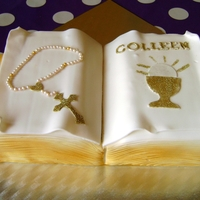 Communion Book Took a decorating course in Allens of Athlone & t his is the result!
