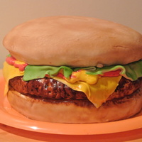 Cheese Burger Cake Cheese burger cake I made for the marching band fund raiser