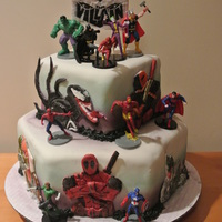 "Marvel Vs. Dc Comic This is my ""Dylan the Villian Cake""...my some wanted a Marvel vs. DC comic cake. I could find plenty of superhero cake toppers,..."