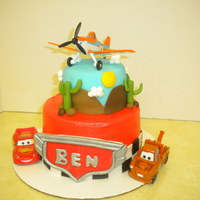 "Cars & Planes   This was a mini cake. I used a 6"" and 4"" round pans."