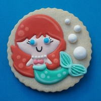 Mermaid A sweet little mermaid for a birthday girl who turned 6!