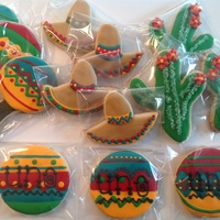 Fiesta Cookies First Birthday Fiesta cookies for 3 little cousins. I am in love with this color palette.