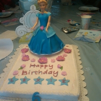 Cinderella Cake   My first go at a doll cake and first time making/using fondant. Thank you to those at CC for the great ideas and recipes.