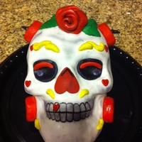 Expendables Cake My brother wanted a birthday cake to resemble the skull in the movie the Expendables. The cake was made from the skull mold and covered in...