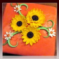 Brown, Orange And Sunflowers