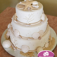 Sea Shells Wedding Cake Sea Shells Wedding cake