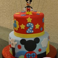 Mickey Play House Cake Mickey Play House cake