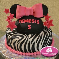 Minnie Animal Print Cake Minnie animal print cake