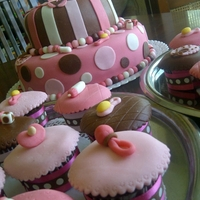 Esmeralda?s Baby Shower Cake cupcakes and chocolate cake.