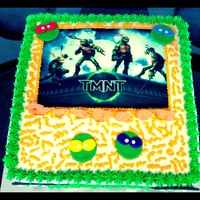 Tmnt Turtles Are Fondant Image Is Edible Cake Is Buttercream TMNT Turtles are fondant, image is edible, cake is buttercream