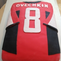 Hockey Ovechkin Jersey 1/4 slab, double layer, fondant