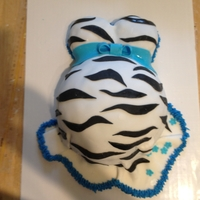 It's A Boy Preggo Belly Cake Fondant, hidden foot