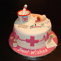 Nurse/pharmacist Cake Graduation cake for Pharmacist.