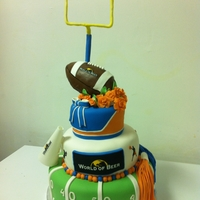 University Of Florida Cheerleader Cake Football and Cheerleader theme cake.
