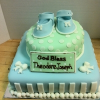 Baby Shower Cake W Booties Baby shower cake w booties