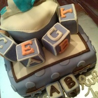"""baby Boy"" Baby Shower Cake!"