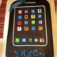 Yancy's Iphone Cake I made this for my sons birthday...he loved it almost as much as his iphone ,