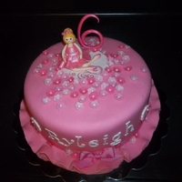 Ryleighs Ballerina Cake vanilla cake with mm fondant. Ballerina made with gum paste