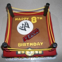 Raw! A cake for the biggest wresting fan.