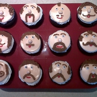 Movember Celebration Cupcakes Cupcakes made for coworkers who participated in the Movember campaign, which was developed to raise awareness of prostate cancer. Men grow...