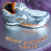 Trainer Cake I made this cake for my son's birthday, he is a keen runner, so I thought a trainer cake was appropriate!