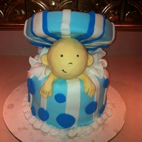 My Very First Fondant Cake!! :)