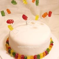Gummy Bear Cake With Real Gummy Bears   Gummy-bear cake with real gummy bears.