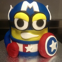 Captain America Minion   Captain America Minion for my local show or fair . Hopefully I place well there was some pretty stiff competition this year.