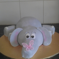 Elephant Cake   Chocolate cake with vanilla buttercream covered in fondant